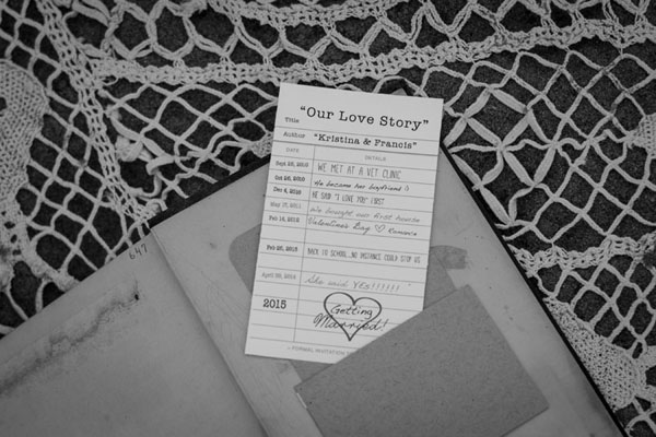 vintage styled engagement, vintage photoshoot, couples, the notebook, stylized engagement, photo props, engagement props, wedding stationery, true love banner, we're tying the knot, this is where our story begins, love letters, www.creativedestiny.ca, www.lianarhofenizerphotography.com