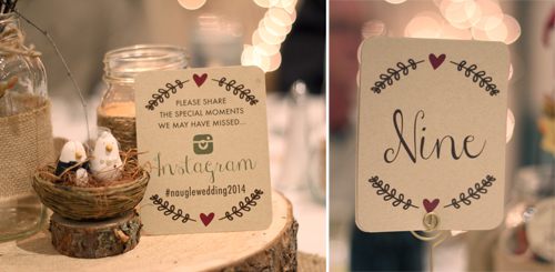 instagram wedding sign #hashtag our wedding, kraft  table numbers