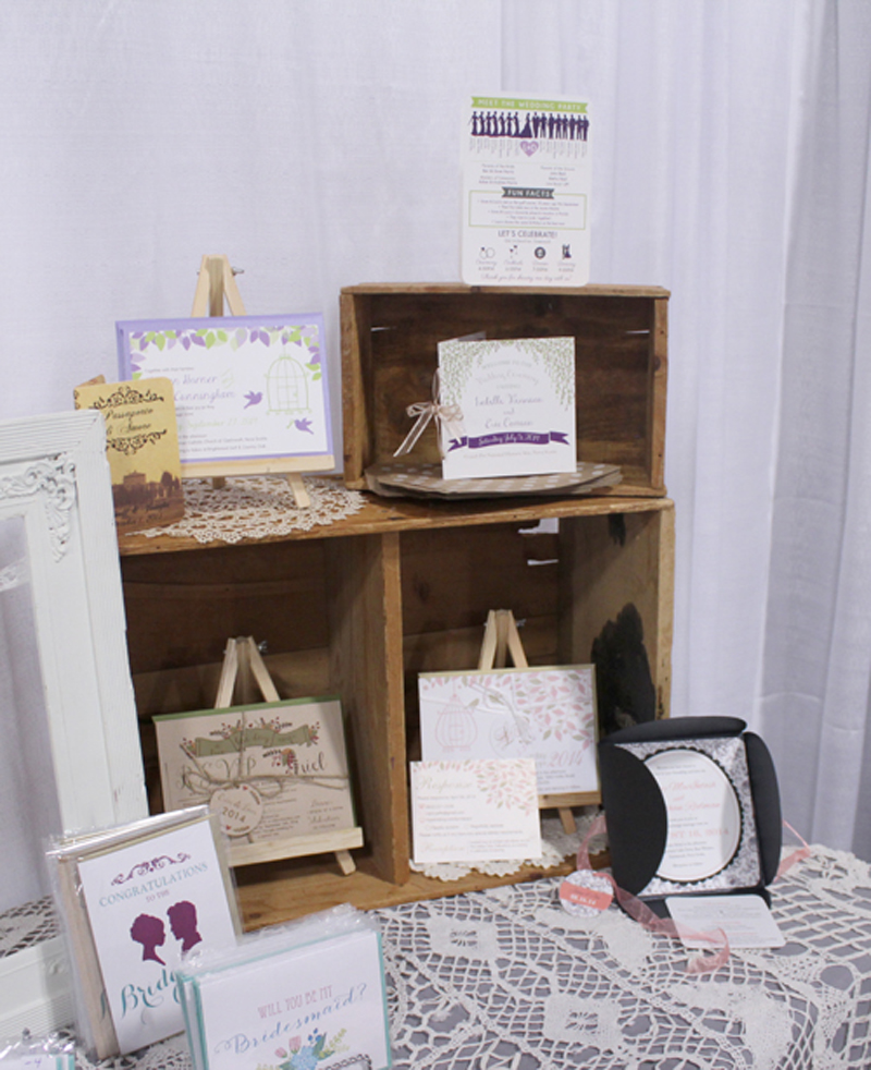 bridal show booth display, stationery booth, atlantic wedding show, halifax wedding show, nova scotia wedding invitations