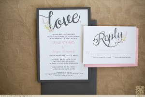 a creative destiny wedding invitations pink and grey love romantic whimsical wedding stationery