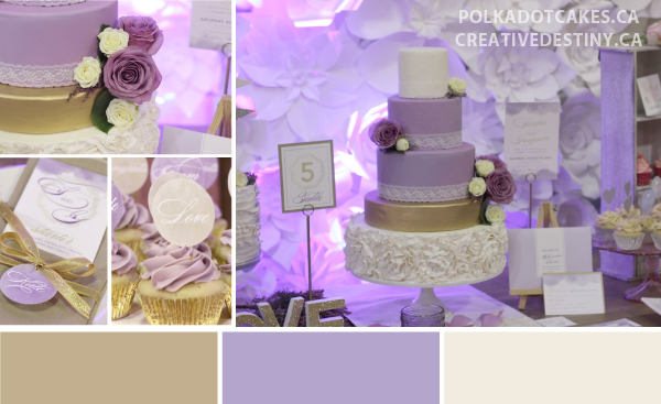 purple and gold watercolour wedding colour inspiration