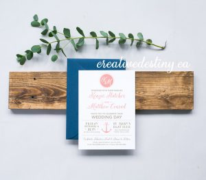 elegant chic nautical invitation