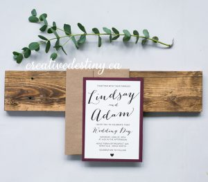 rustic casual invitation design